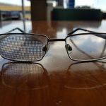 Birchwood Casey Off Eye Sticker on Glasses